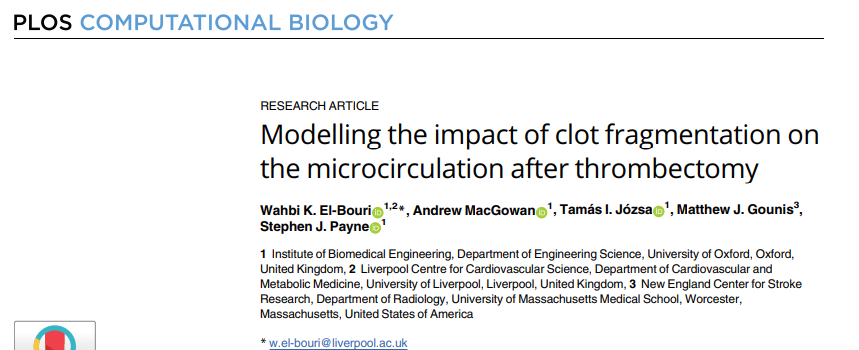 El Bouri Modelling the impact of clot fragmentation